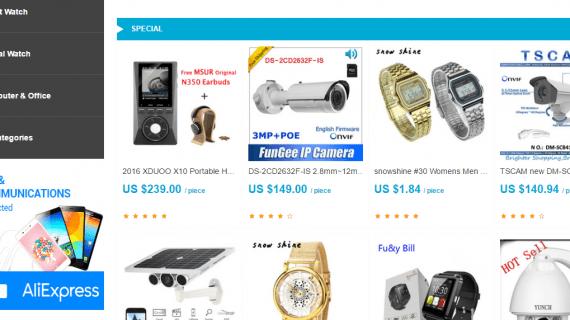 Jasa Pembuatan Website Toko Online AliExpress Siap Pakai